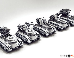 3D print model Feudal Guard Support Tanks