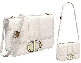 3D model Dior 30 Montaigne Bag White