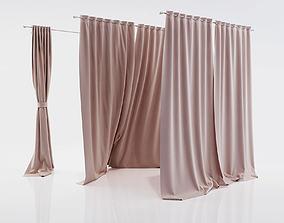 Window curtains 3D model