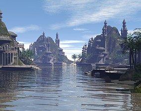 3D castle architectural