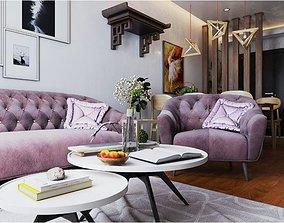Livingroom 02 3D model chair