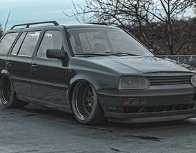 estate Volkswagen Golf Mk3 Estate VARIANT 3D model
