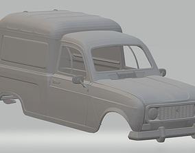 Renault 4 F4 Printable Body Van
