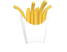 French Fries v1 004 3D model