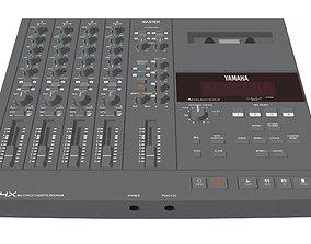 Four Track Cassette Recorder - Yamaha MT4X 3D model 1
