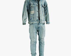 Jeans And Jacket 3D asset