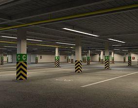 3D model Underground parking garage 01