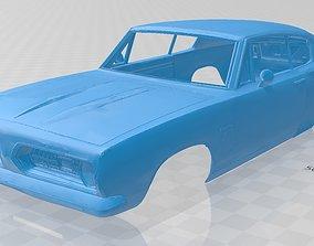Plymouth Barracuda 1968 Printable Body Car