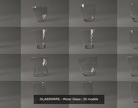 kitchen 3D GLASSWARE---Water Glass