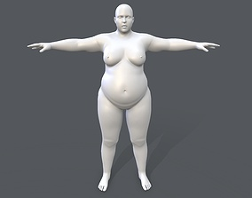 3D asset Middle poly female basemesh - 5