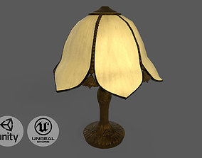 Vintage brass table lamp 3D model realtime