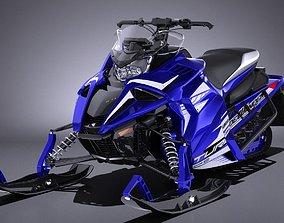 Yamaha Sidewinder R-TX LE snowmobile 3D model