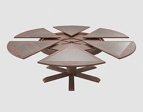 Dining Table With Leaves 3D asset
