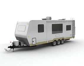 3D model Travel Trailer Toy Hauler 3-Axle