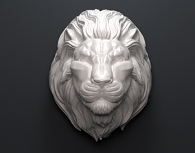 Lion Head Sculpture 3D printable model