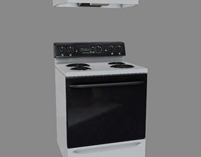 Stove with Hood 3D model