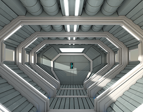 shuttle Sci Fi Corridor 3D model
