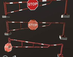 Road Barrier 3D model realtime