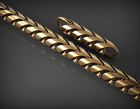 3D printable model gold Chain Link 136