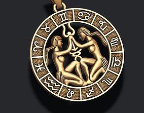 3D printable model zodiac Gemini The Twins lite