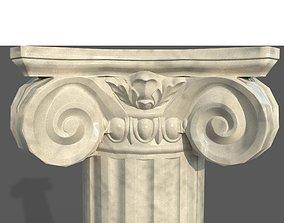 Ionic column 3D asset low-poly