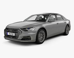 3D model Audi A8 D5 L with HQ interior 2018