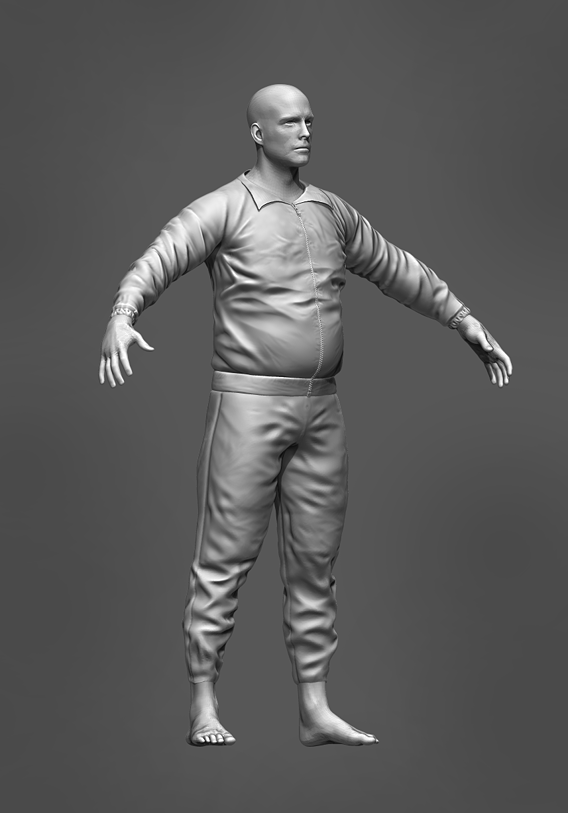 Man in tracksuit