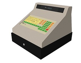 Cash Register With Opening Drawer 3D