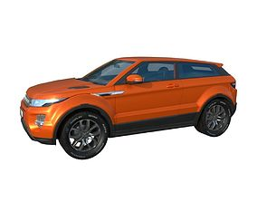 3D asset Range Rover Evoque 2015