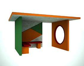 3D asset game-ready Bus stop