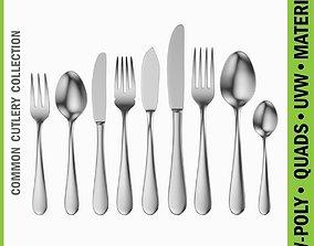3D model Common Cutlery Set 9 Pieces