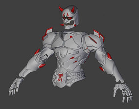 3D Model of Genji Oni Skin Armor from Overwatch