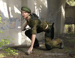 Mercenary Outfit for Genesis 8 Female 3D asset
