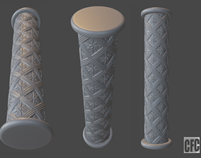 Goth shaft - 3d model for CNC - GothShaftCFC04