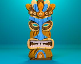 Tiki mask 3D model realtime