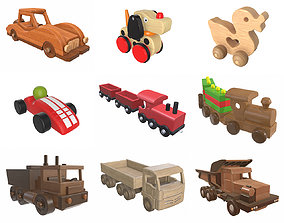 Children wood toys pbr part 1 3D
