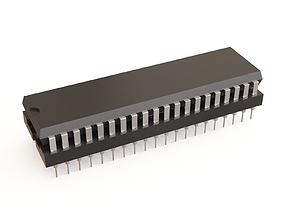 Microchip 04 3D model