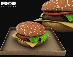Cheeseburger classic mesh 3D asset