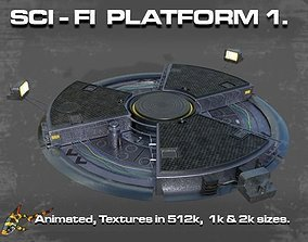 3D model SCI FI PLATFORM 1
