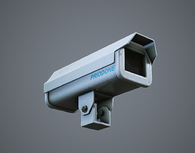 3D asset CCTV Camera