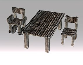 Poor Carpenter furniture collection 3D asset