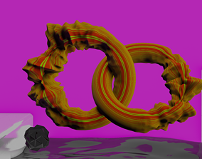3D model Distorted Donuts