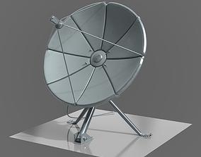 satellite dish exterior 3D model
