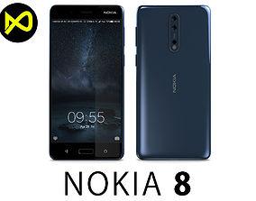 Nokia 8 Polished Blue 3D