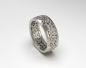 3D printable model Woman Celtic Knot Band Ring 98