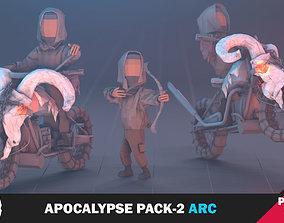 3D asset Apocalypse Archer Pack