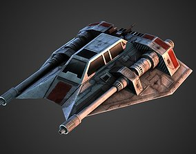 Rebel Snow Speeder 3D model game-ready