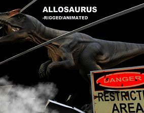 Allosaurus Rigged And Animated 3D model