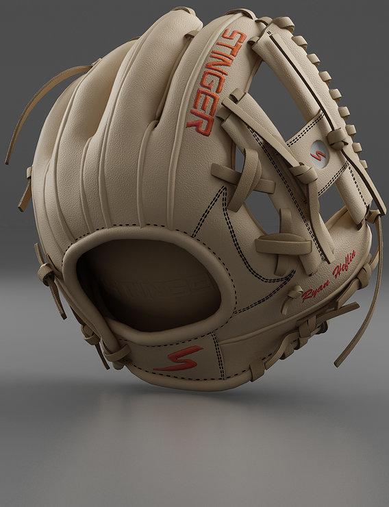 Baseball Glove Cream Render