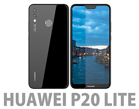 3D Huawei P20 Lite Midnight Black